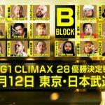 【G1 CLIMAX 28】出場選手&ブロック分け発表で漂う波乱の予感